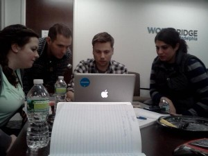 Startup Weekend Philly- Team #mentorshake preparing for market research an…
