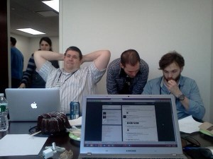 Startup Weekend Philly- Hour 5 of debugging and compiling the CSS w/big @z…