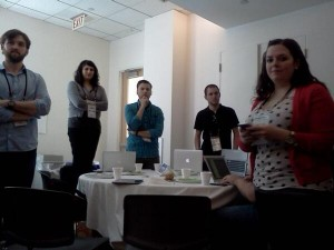 Startup Weekend Philly- Day 2 hr 2: Event standup -1 min pitch on product…